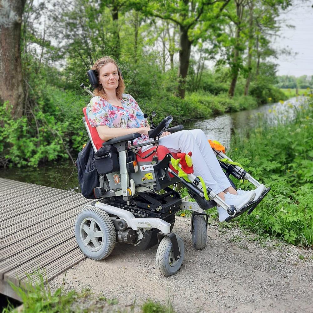 Corien op pad in rolstoel
